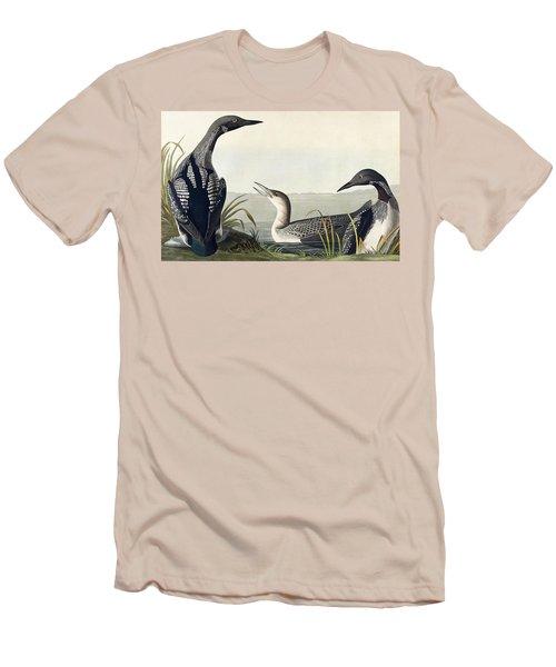 Black Throated Diver  Men's T-Shirt (Slim Fit) by John James Audubon
