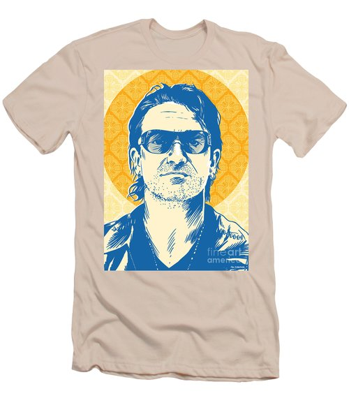 Bono Pop Art Men's T-Shirt (Slim Fit) by Jim Zahniser