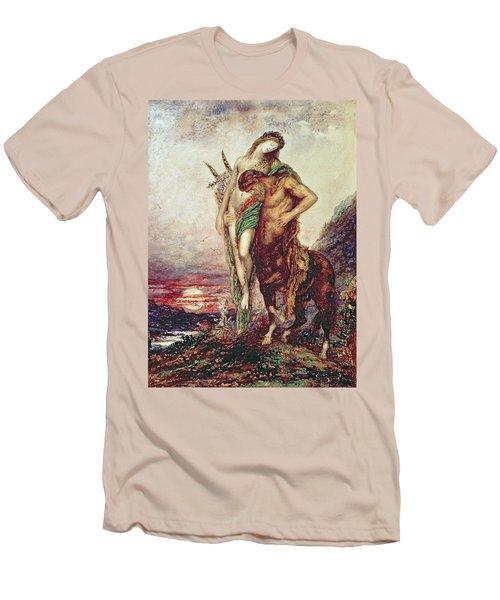 Dead Poet Borne By Centaur Men's T-Shirt (Slim Fit) by Gustave Moreau