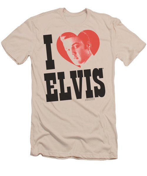 Elvis - I Heart Elvis Men's T-Shirt (Slim Fit) by Brand A