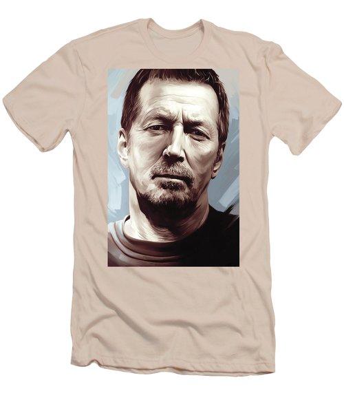 Eric Clapton Artwork Men's T-Shirt (Slim Fit) by Sheraz A