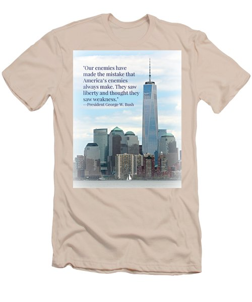Freedom On The Rise Men's T-Shirt (Slim Fit) by Stephen Stookey