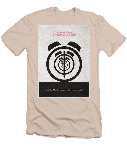 Groundhog Day Men's T-Shirt (Slim Fit) by Ayse Deniz