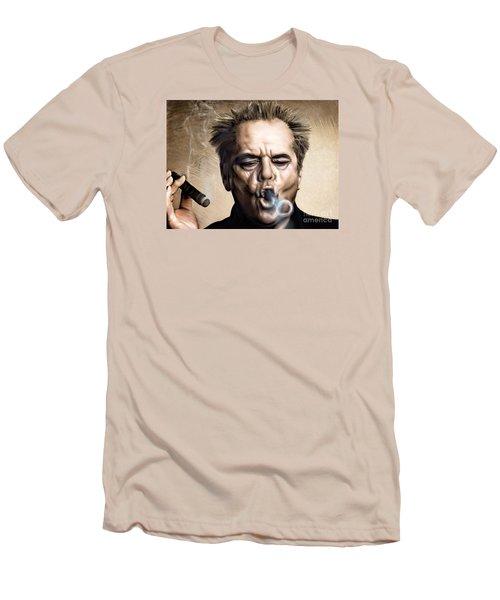 Jack Nicholson Men's T-Shirt (Slim Fit) by Andrzej Szczerski