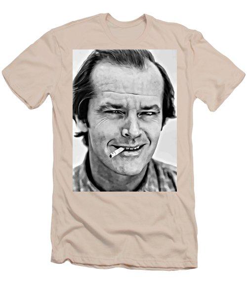 Jack Nicholson Men's T-Shirt (Slim Fit) by Florian Rodarte