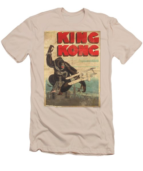 King Kong - Old Worn Poster Men's T-Shirt (Slim Fit) by Brand A