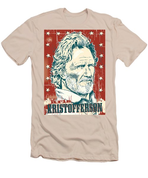 Kris Kristofferson Pop Art Men's T-Shirt (Slim Fit) by Jim Zahniser
