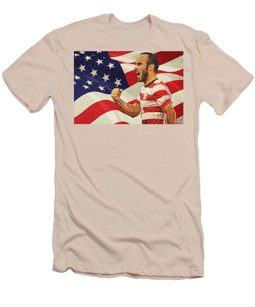 Landon Donovan Men's T-Shirt (Slim Fit) by Taylan Apukovska