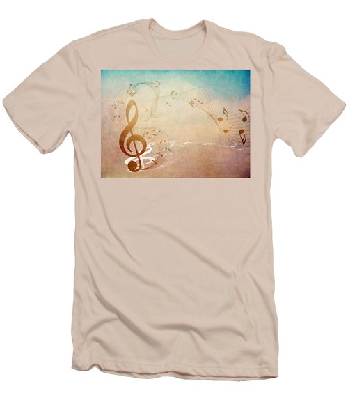Please Dont Stop The Music Men's T-Shirt (Slim Fit) by Angelina Vick