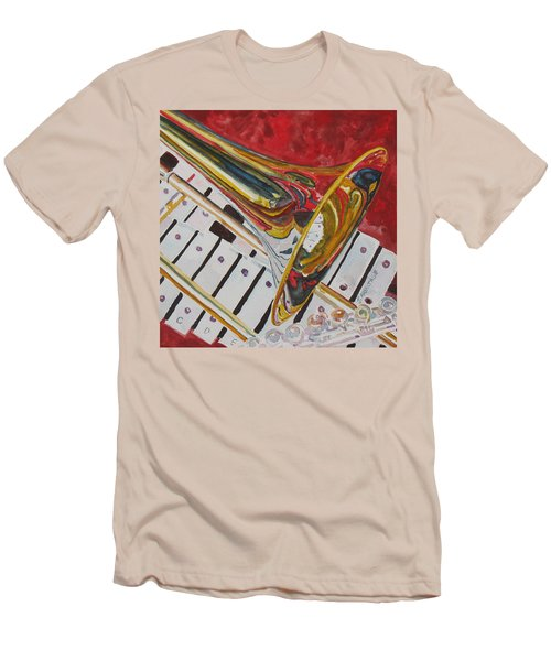 Ringing In The Brass Men's T-Shirt (Slim Fit) by Jenny Armitage