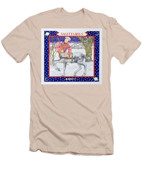 Sagittarius Wc On Paper Men's T-Shirt (Slim Fit) by Catherine Bradbury