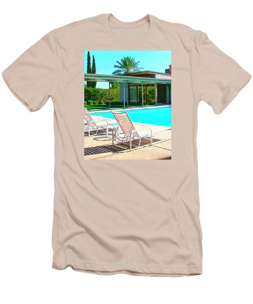 Sinatra Pool Palm Springs Men's T-Shirt (Slim Fit) by William Dey