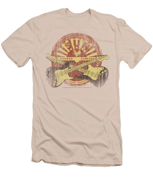 Sun - Crossed Guitars Men's T-Shirt (Slim Fit) by Brand A