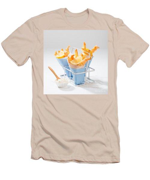 Tempura Prawns Men's T-Shirt (Slim Fit) by Amanda Elwell