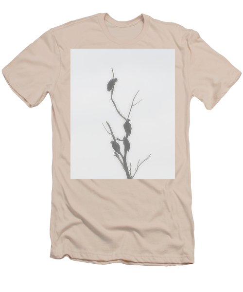 Their Waiting Four Black Vultures In Dead Tree Men's T-Shirt (Slim Fit) by Chris Flees