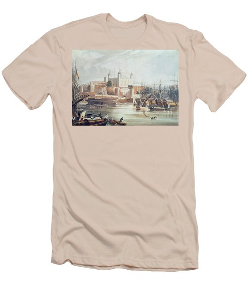 View Of The Tower Of London Men's T-Shirt (Slim Fit) by John Gendall