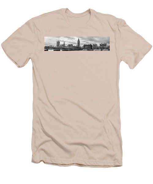 Westminster Panorama Men's T-Shirt (Slim Fit) by Heather Applegate