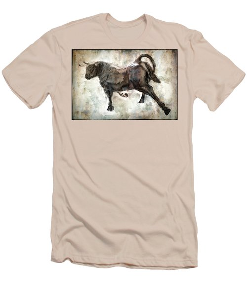 Wild Raging Bull Men's T-Shirt (Slim Fit) by Daniel Hagerman