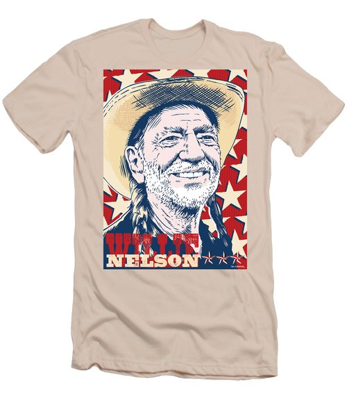 Willie Nelson Pop Art Men's T-Shirt (Slim Fit) by Jim Zahniser