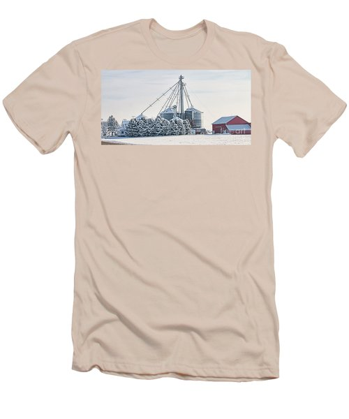 Winter Farm  7365 Men's T-Shirt (Slim Fit) by Jack Schultz