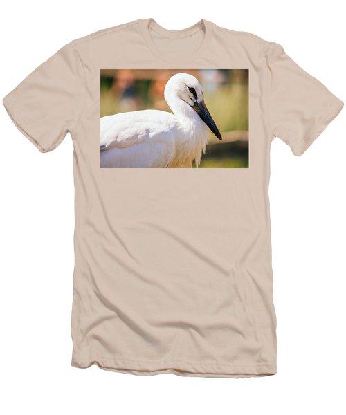 Young Stork Portrait Men's T-Shirt (Slim Fit) by Pati Photography