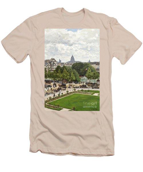 Garden Of The Princess Men's T-Shirt (Slim Fit) by Claude Monet