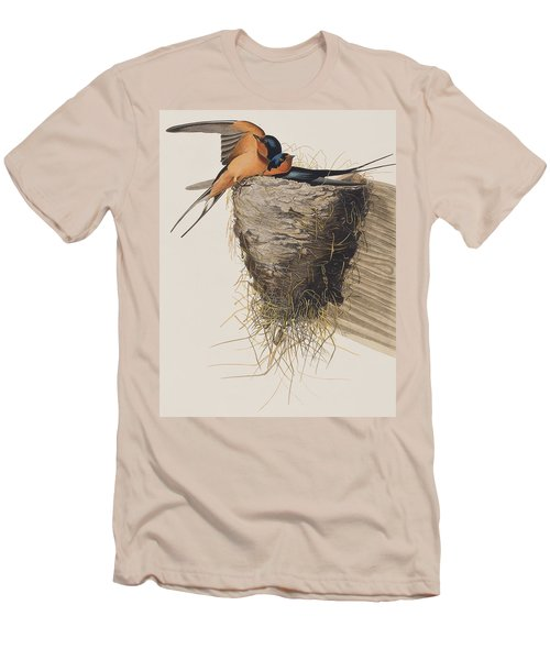 Barn Swallow Men's T-Shirt (Slim Fit) by John James Audubon