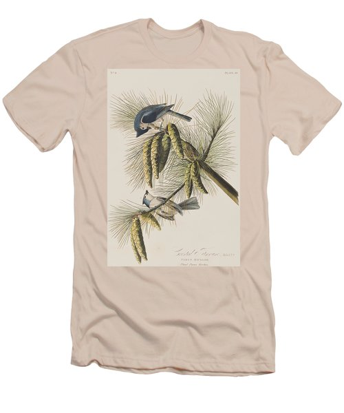 Crested Titmouse Men's T-Shirt (Slim Fit) by John James Audubon