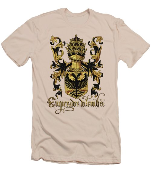 Emperor Of Germany Coat Of Arms - Livro Do Armeiro-mor Men's T-Shirt (Slim Fit) by Serge Averbukh