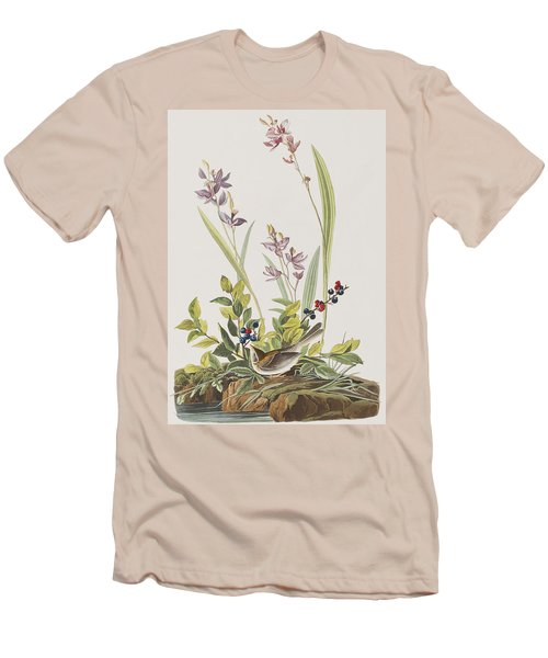 Field Sparrow Men's T-Shirt (Slim Fit) by John James Audubon