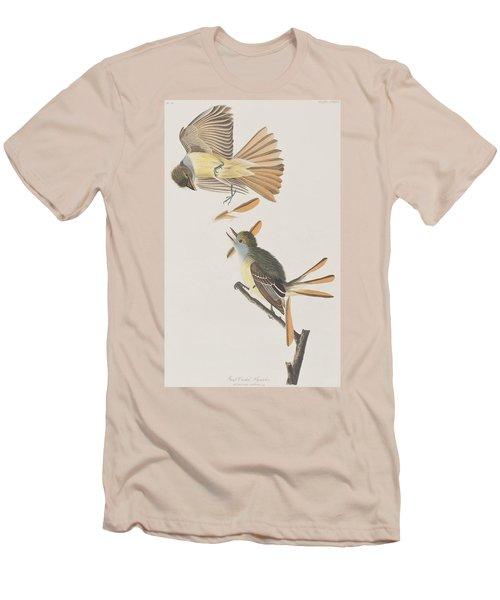 Great Crested Flycatcher Men's T-Shirt (Slim Fit) by John James Audubon