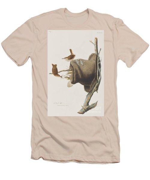 House Wren Men's T-Shirt (Slim Fit) by John James Audubon