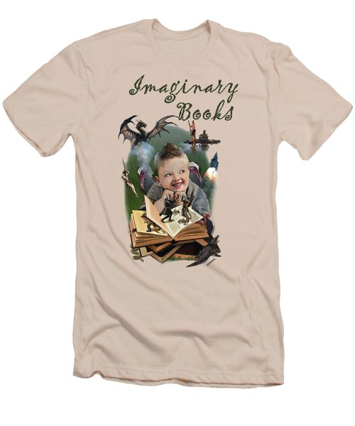 Imaginary Books Men's T-Shirt (Slim Fit) by Joseph Juvenal