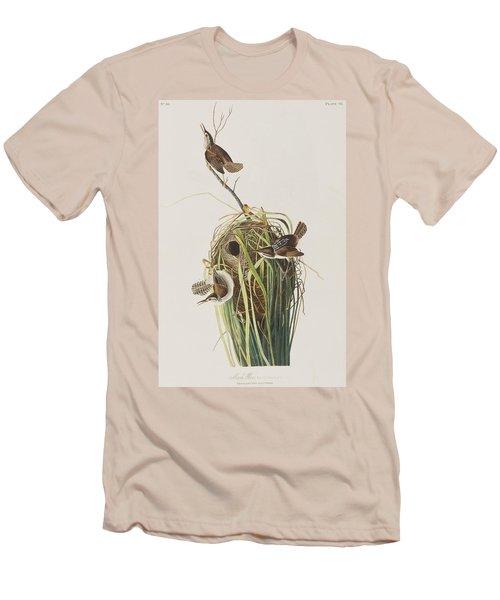 Marsh Wren  Men's T-Shirt (Slim Fit) by John James Audubon