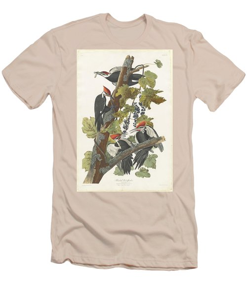 Pileated Woodpecker Men's T-Shirt (Slim Fit) by John James Audubon