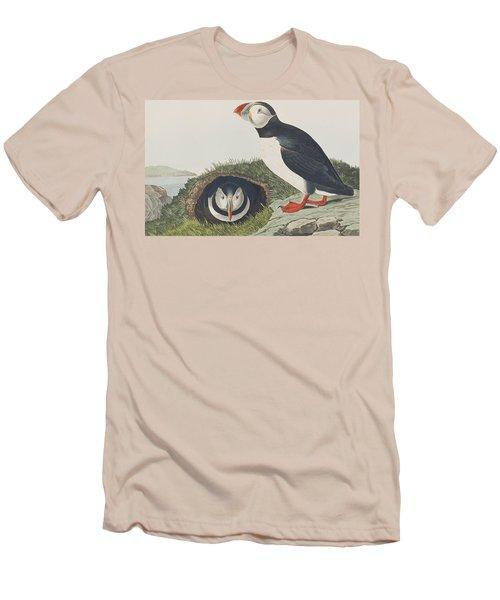 Puffin Men's T-Shirt (Slim Fit) by John James Audubon