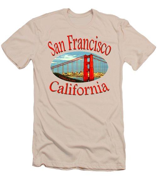 San Francisco California - Tshirt Design Men's T-Shirt (Slim Fit) by Art America Online Gallery