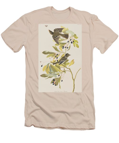 Small Green Crested Flycatcher Men's T-Shirt (Slim Fit) by John James Audubon