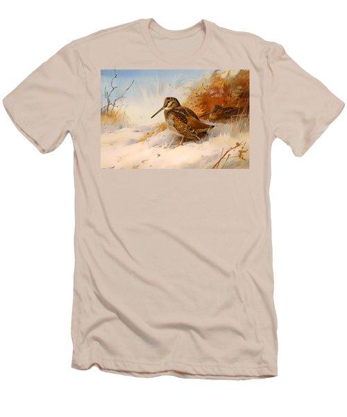Winter Woodcock Men's T-Shirt (Slim Fit) by Mountain Dreams