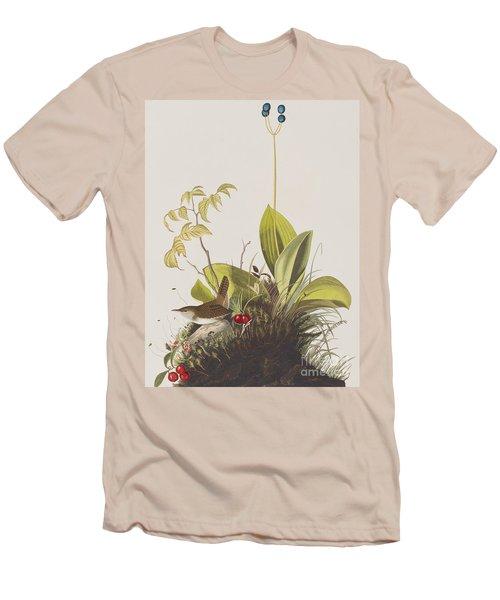 Wood Wren Men's T-Shirt (Slim Fit) by John James Audubon
