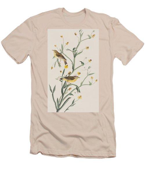 Yellow Red-poll Warbler Men's T-Shirt (Slim Fit) by John James Audubon