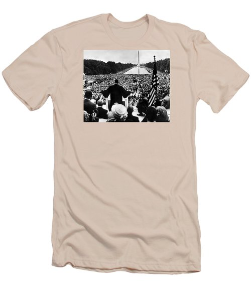Martin Luther King Jr Men's T-Shirt (Slim Fit) by American School