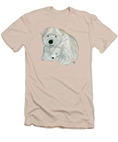 Cuddly Polar Bear Men's T-Shirt (Slim Fit) by Angeles M Pomata
