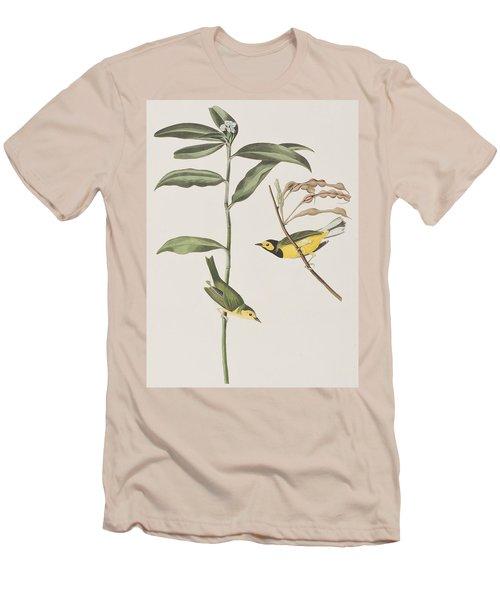 Hooded Warbler  Men's T-Shirt (Slim Fit) by John James Audubon