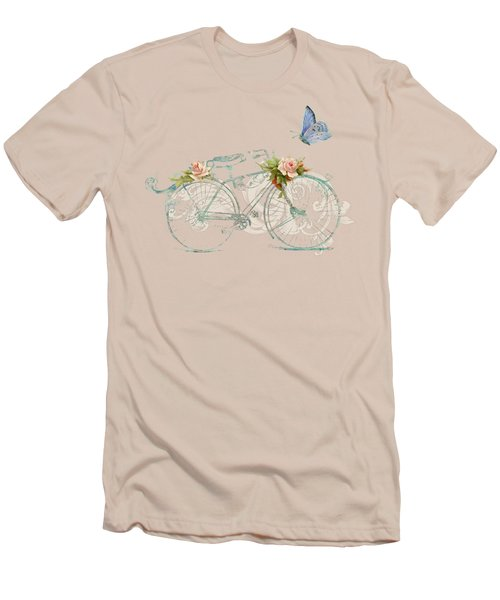 Summer At Cape May - Bicycle Men's T-Shirt (Slim Fit) by Audrey Jeanne Roberts