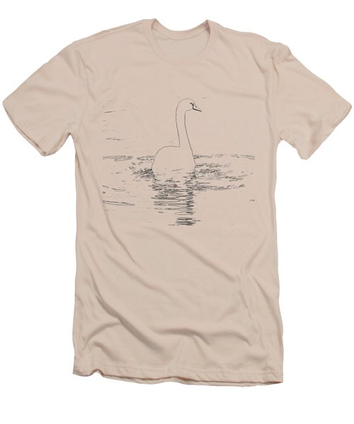 White Swan Swimming  Men's T-Shirt (Slim Fit) by Humorous Quotes