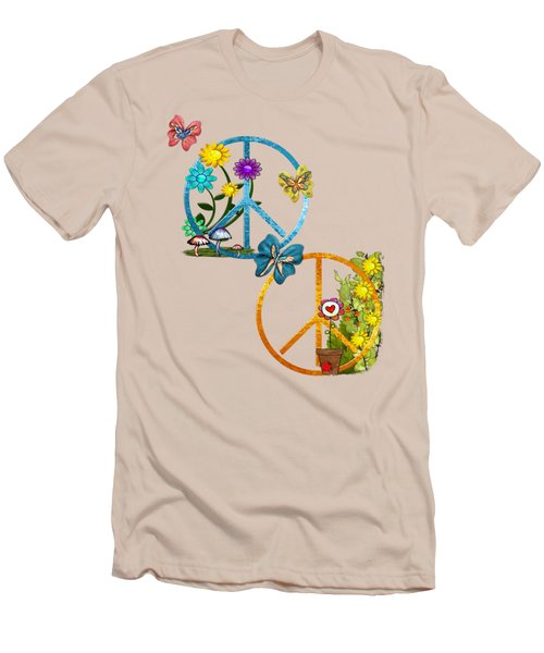 A Very Hippy Day Whimsical Fantasy Men's T-Shirt (Slim Fit) by Sharon and Renee Lozen