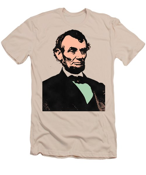 Abe Lincoln 2 Men's T-Shirt (Slim Fit) by Otis Porritt