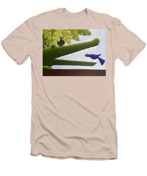 Alligator Nursery Art Men's T-Shirt (Slim Fit) by Christy Beckwith