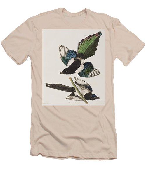 American Magpie Men's T-Shirt (Slim Fit) by John James Audubon